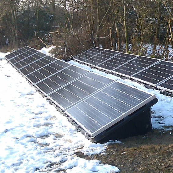Ground Mounted Solar PV Panels Installation