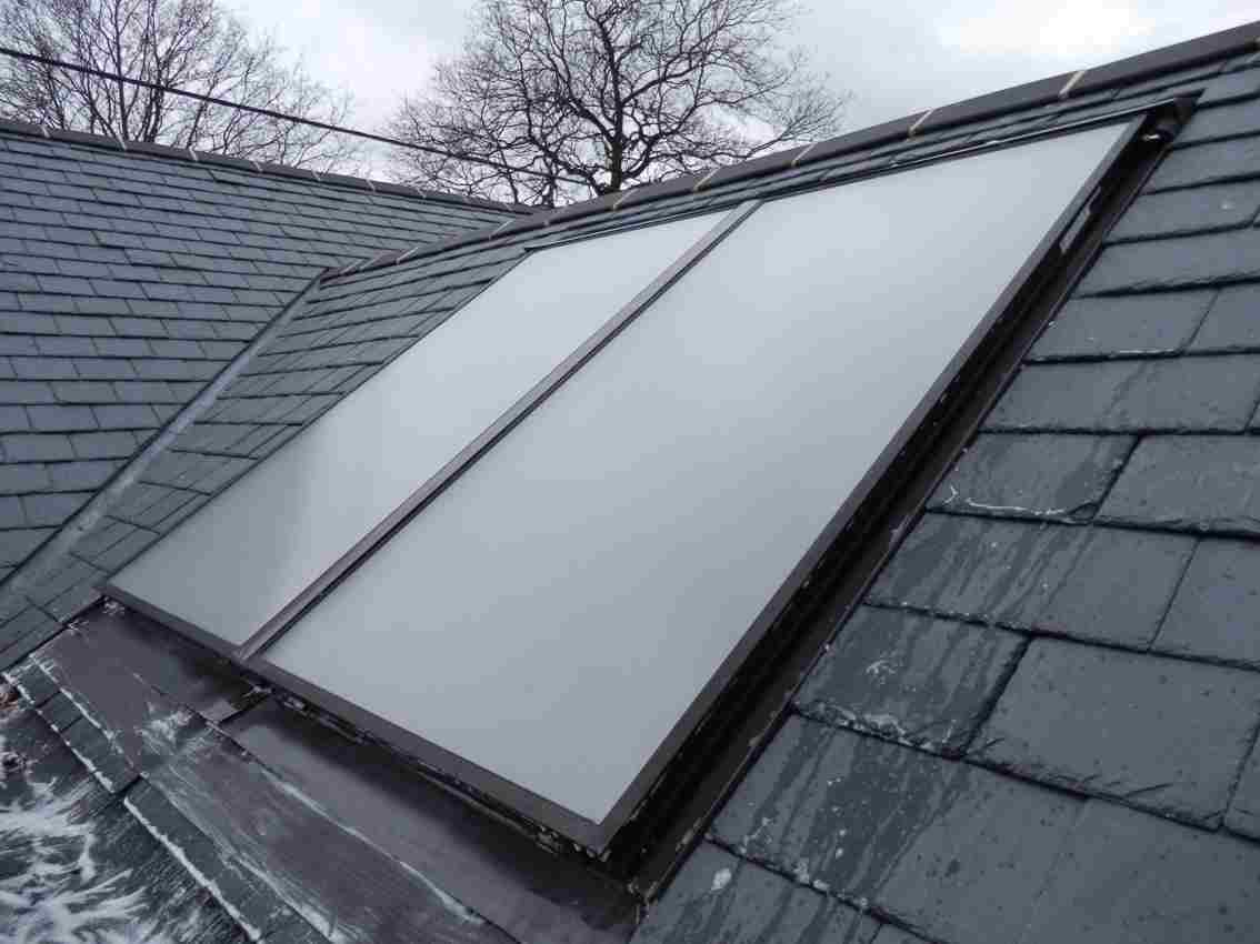 Solar Thermal panel roof installation