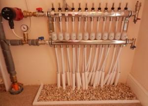 Underfloor central Heating system installation