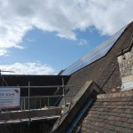 Church Roof installed Solar Panels