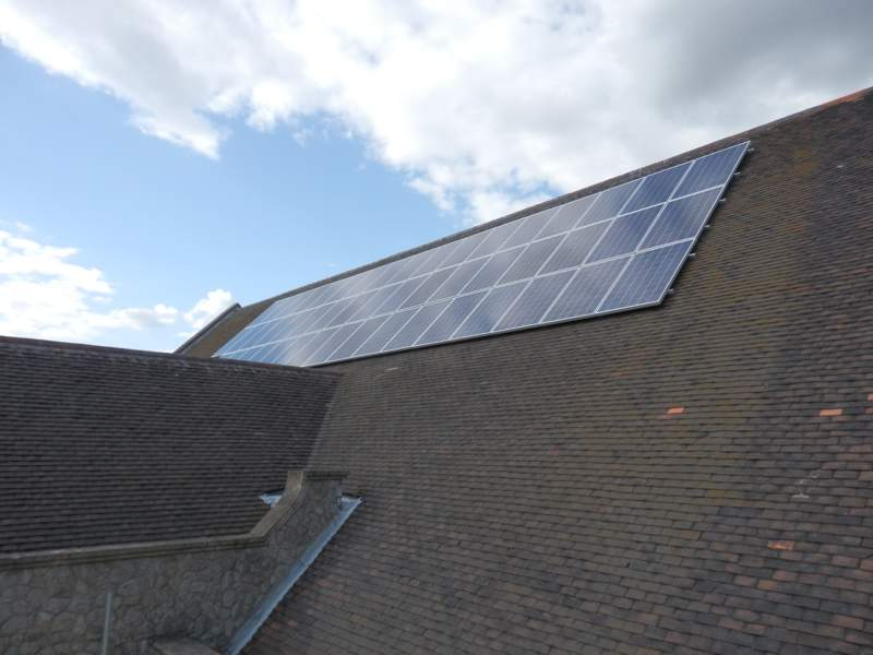 Complete installation of solar panels on roof in Essex